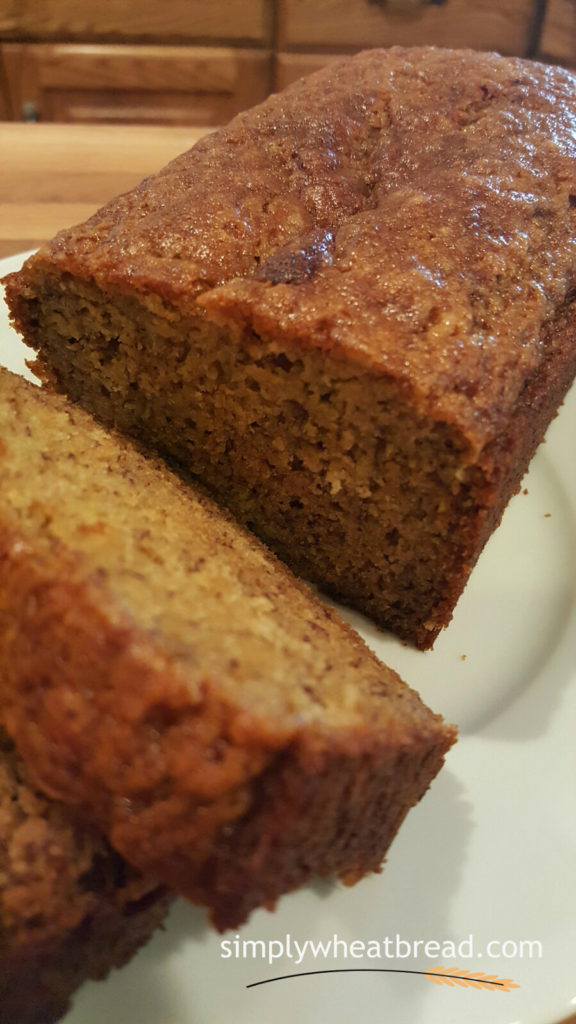 100% whole wheat honey-banana bread