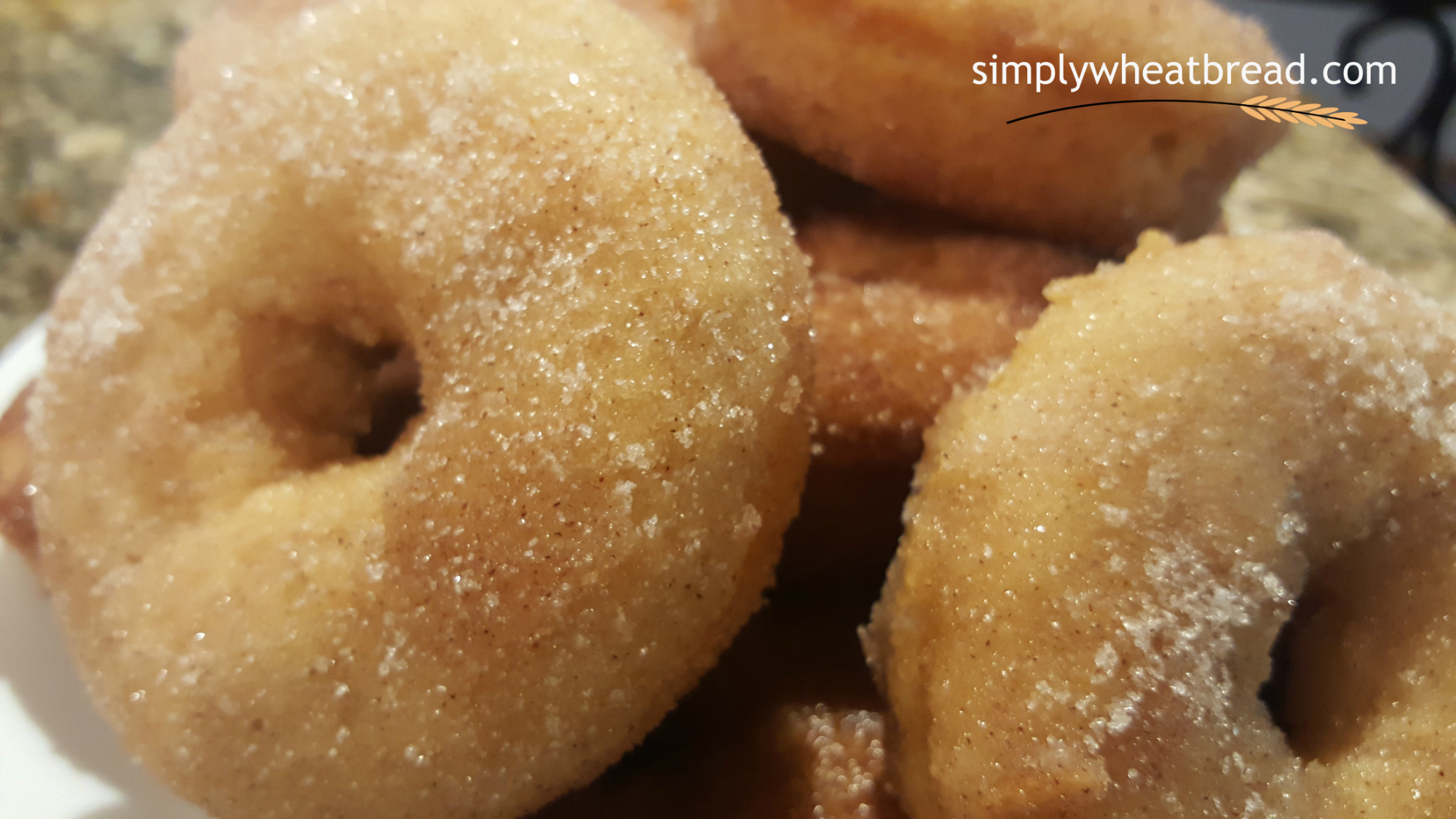 Mouth-Watering 100% Whole Wheat Baked Donuts Dipped in Cinnamon-Sugar Mixture